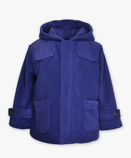 Hooded zip front coat
