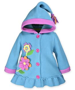 Hooded flower coat