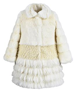 Tier faux fur coat