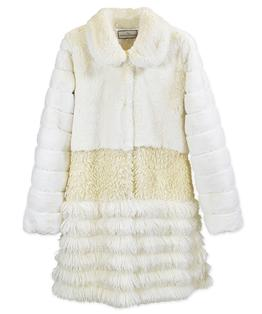 Adult Sized Tier Faux Fur Coat