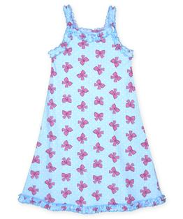 Sara's Prints Girls Ruffle Tank Nightgown
