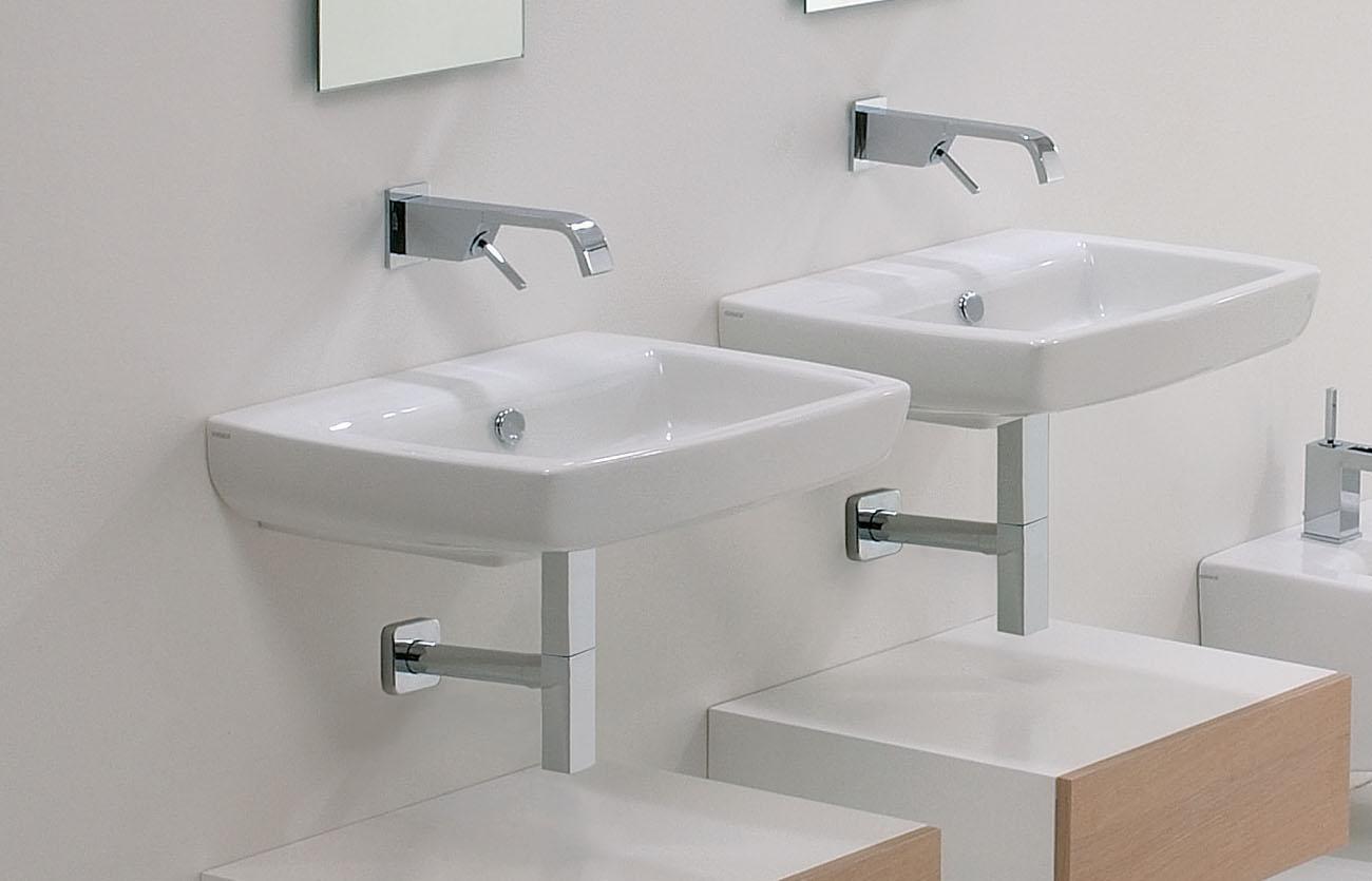 ceramic wall-hung basins