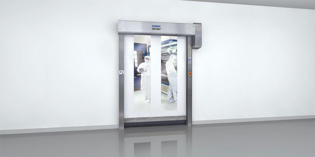 high-speed cleanroom door