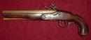 English Brass Barreled Coaching Pistol, ca. 1790