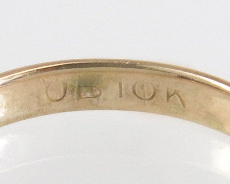 Antique Estate Ostby Barton Art Deco Infant Child 10K Rose Gold Ring Band Size 1