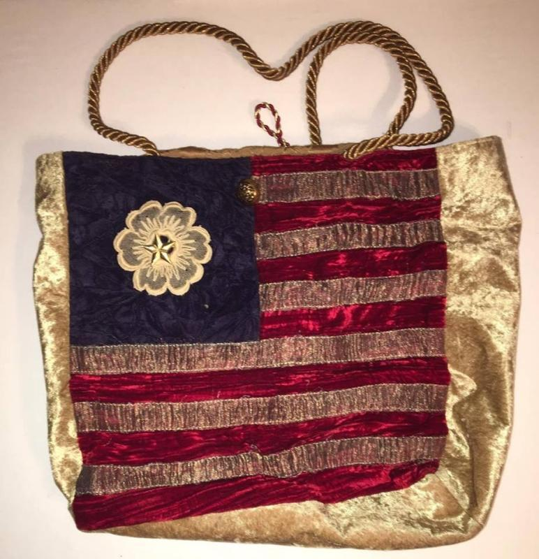 Mia Borsa Forth Of July Flag Soft Cloth Clutch Shoulder Handbag 12 x 14