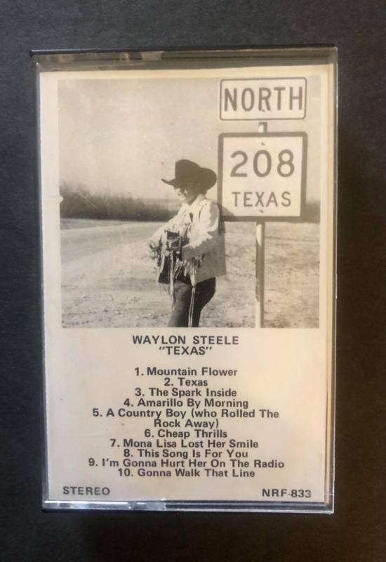 Waylon Steele Texas Cassette NRF-833 Comes with a CD Transfer