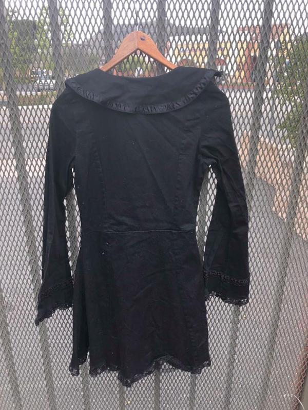 Criminal Damage Goth Metal Industrial Cosplay Girls Black Dress Small