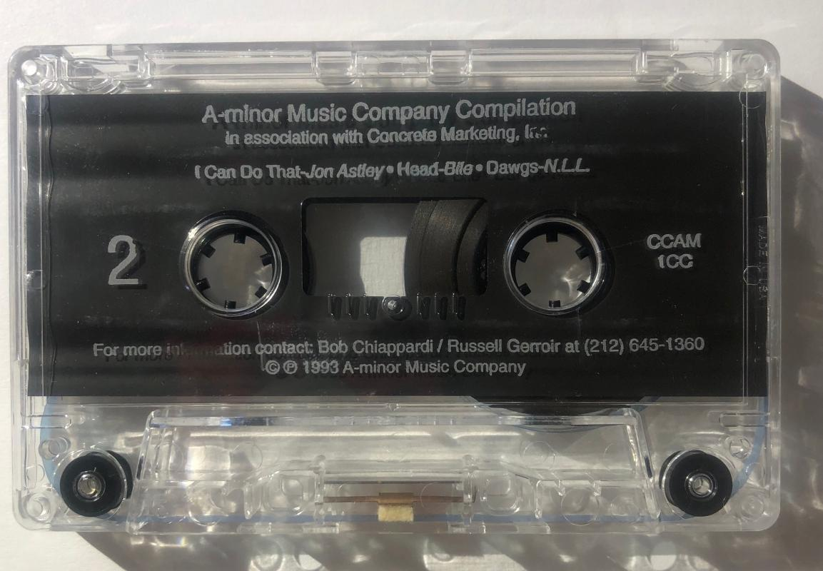 1993 Bile A-Minor Cassette Jon Astley Grooveyard Harmony Bandits Shootyz Groove Chiefsuckface N.L.L. Comes with CD Transfer Richard Steinberg Bob Chiappardi Russel Gerroir
