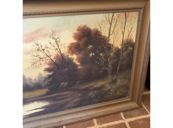 T. Bailey Framed Oil On Canvas measuring 25