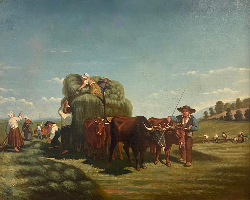Dutch Golden Age Painting, Harvest Season 1673