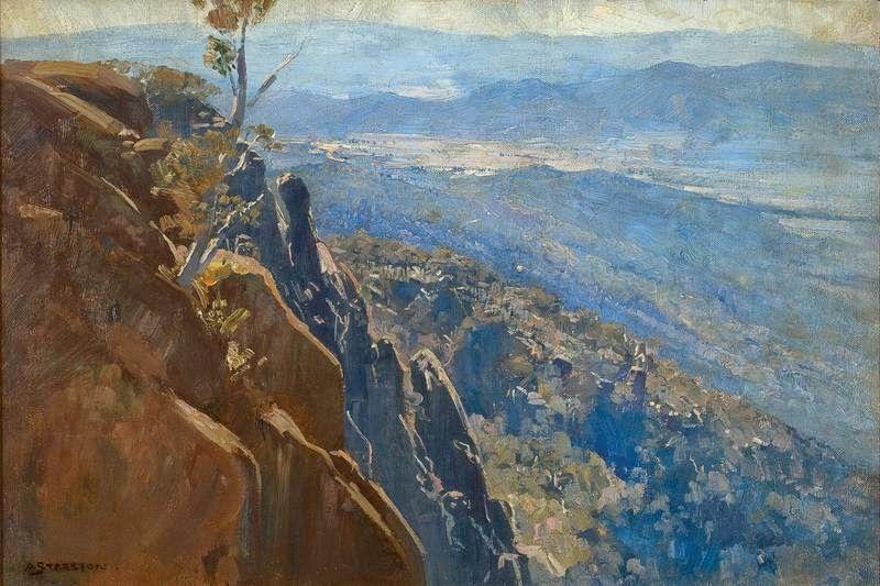 Arthur Streeton - 19th Century Untitled Olinda Landscape