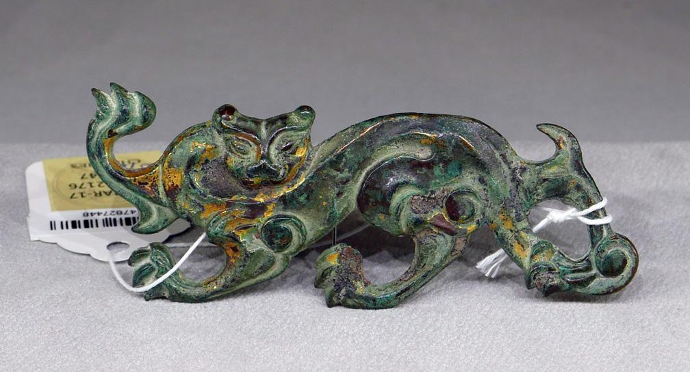 Rare Gilt Bronze, Imperial Horse and Rider Han dynasty (206BC -220 AD)