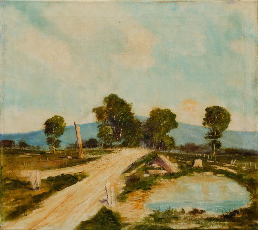 Clay Loam Road, Vista Beckons (Arthur Streeton 1867 -1943)
