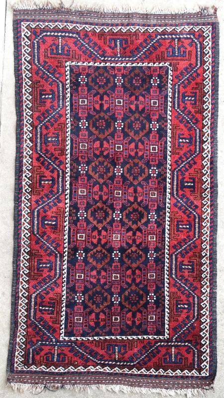 Afghan rug Baluch 1950