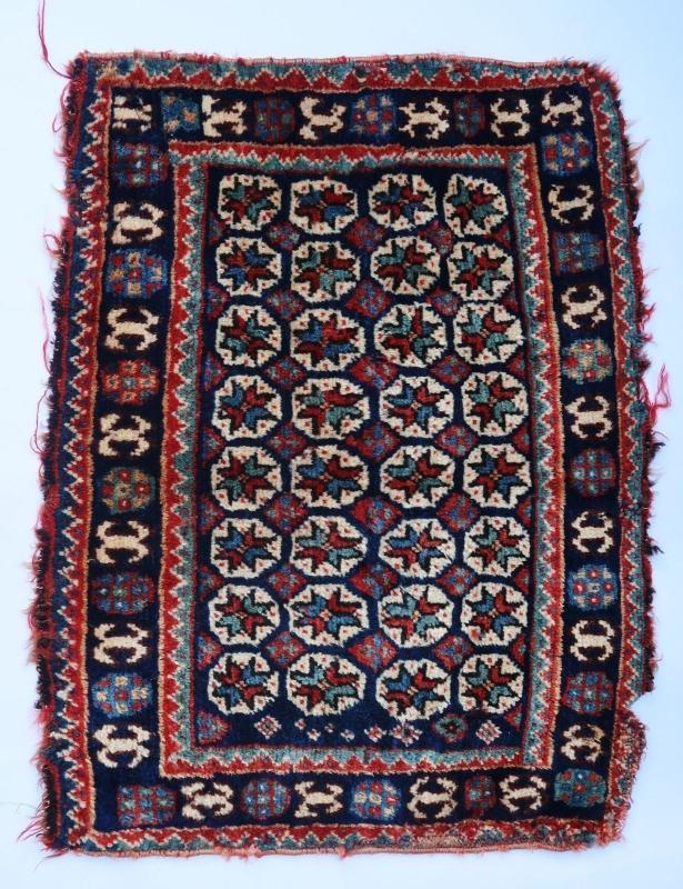Persian rug/bag face Ghashghai 1900