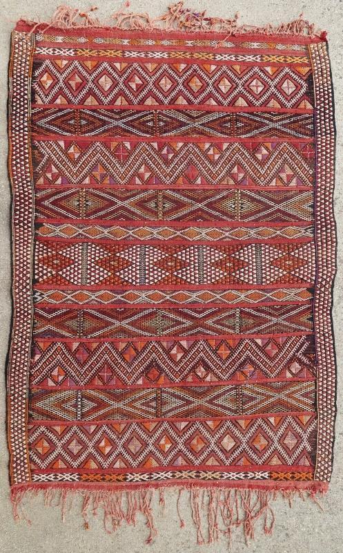Moroccan kilim Zemmour 1950