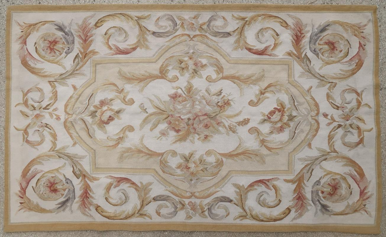 French rug Aubusson 1950
