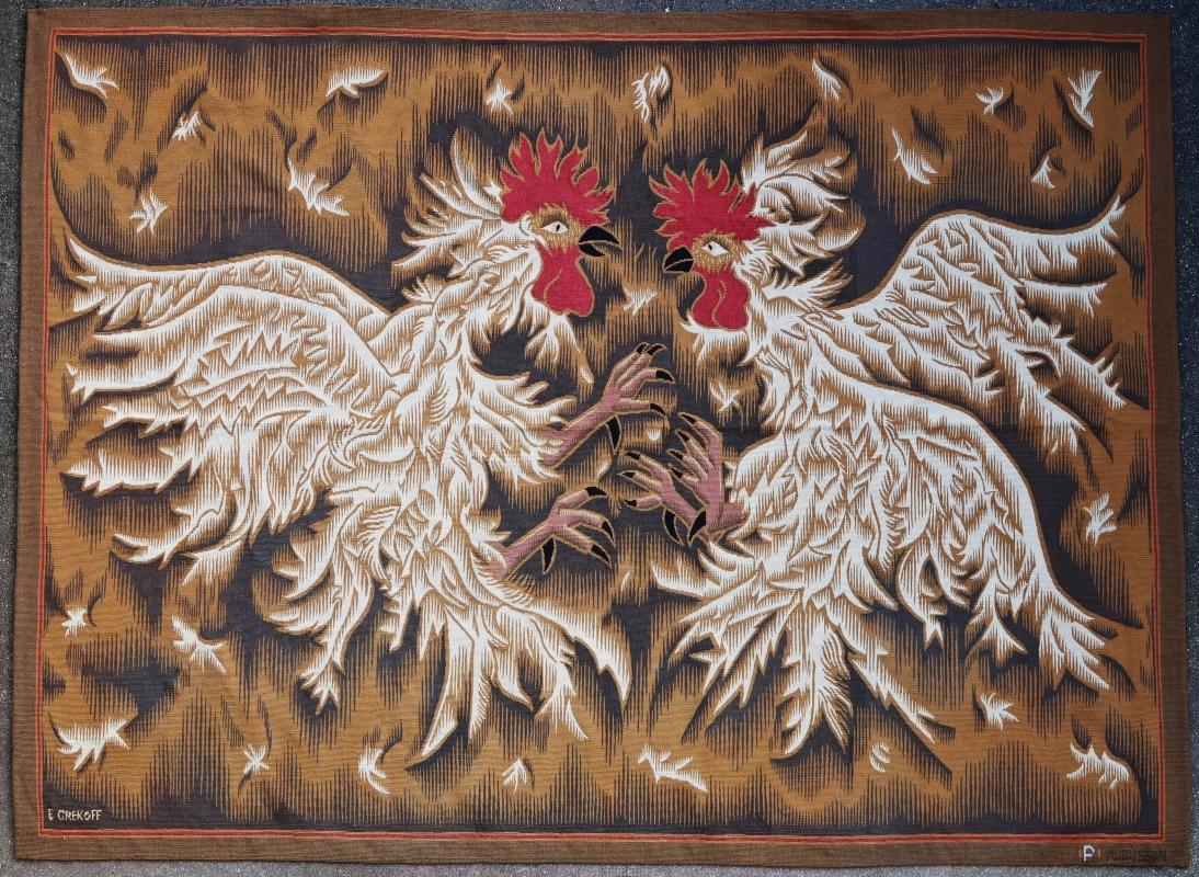 French tapestry Aubusson Elie Grekoff 20th century