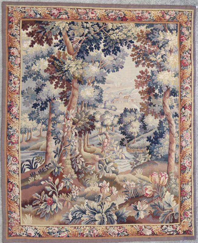 French tapestry Aubusson 19th century