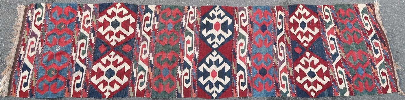 Caucasian kilim Kazak 1900