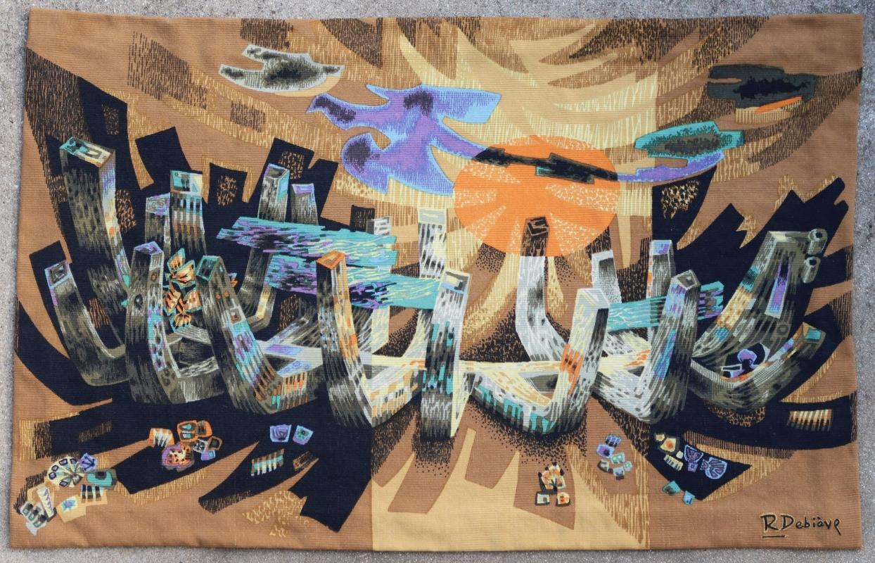 French tapestry Robert Debieve