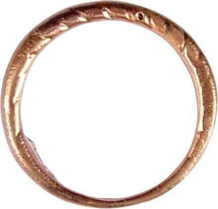 Size 9 Ancient Viking Twisted Ring, 9th-10th Century AD Authentic Ancient Jewelry