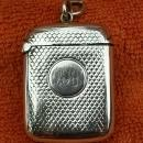 Antique Sterling Silver British Hallmarked Vesta Case 1894 Horton & Allday
