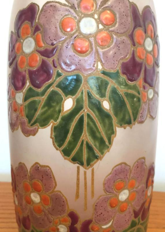 Legras Art Nouveau Arts & Crafts Period Enameled Glass Vase