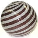Venini Attr. Murano Italian Bulbous Canne Glass Vase
