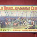 Cole Brothers Big Railroad Circus Poster Circa 1940s