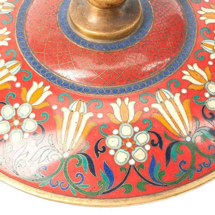 French Beaux Arts Champleve Enamel Urn