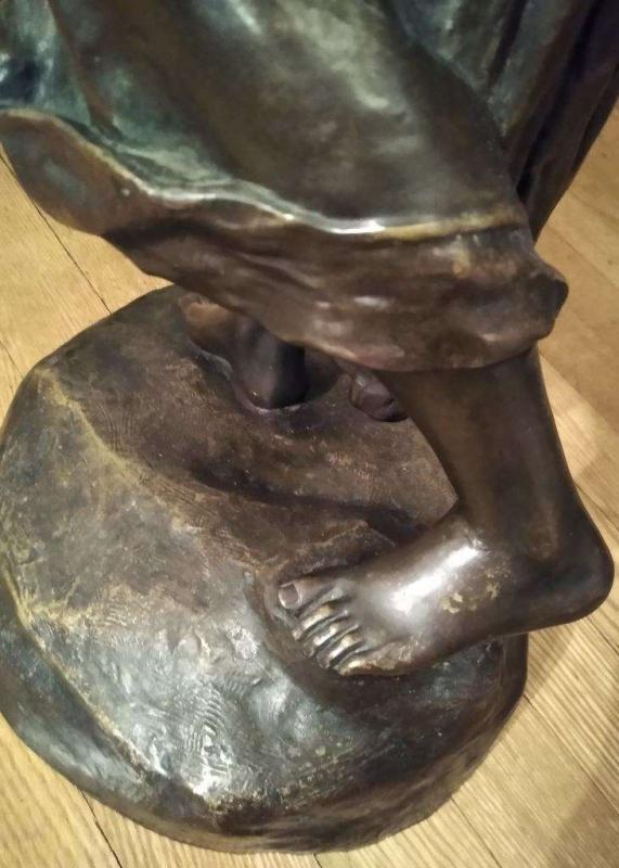 Ernst Borsdorf (Austrian, d. 1904) Bronze Sculpture of Water Maiden
