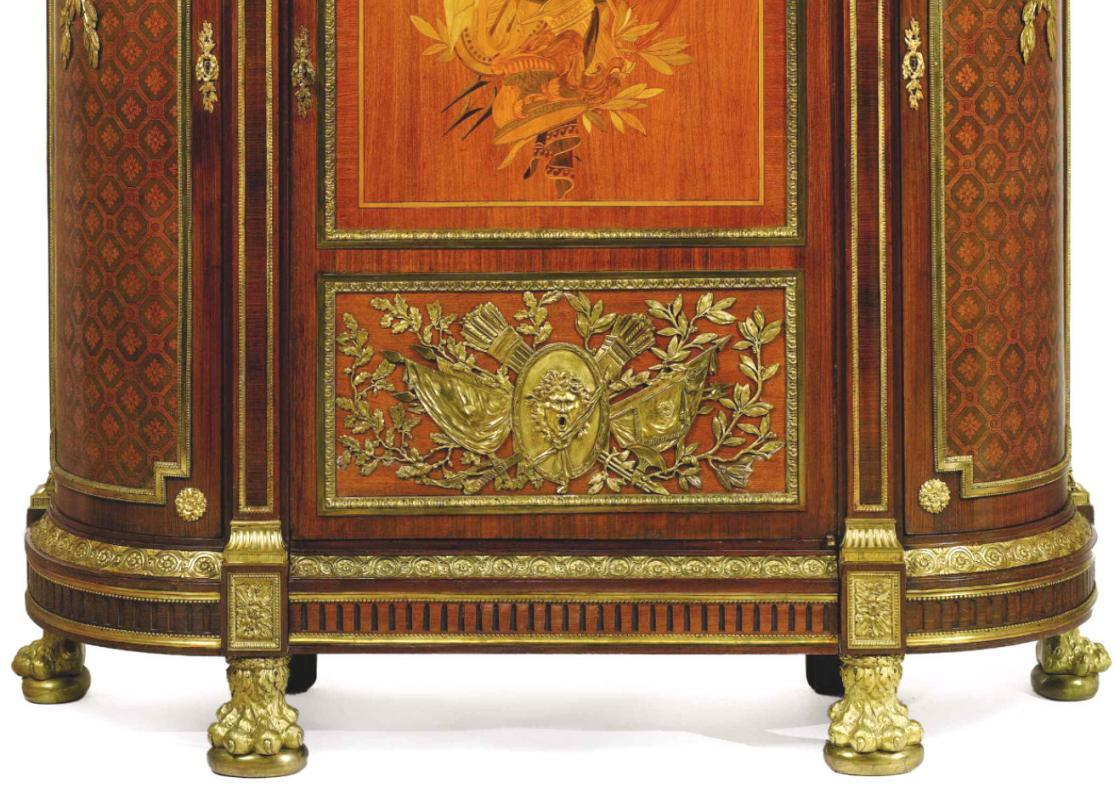 Palatial Antique French Louis XVI Style Armoire Wardrobe After Benneman