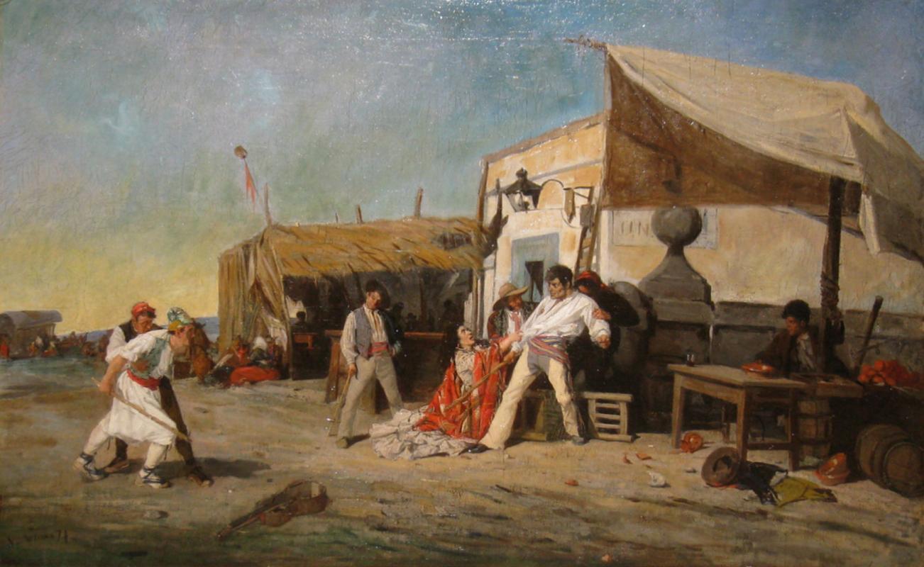 Angel Lizcano (Spanish, 1846-1929) Oil on Canvas
