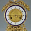 Louis XVI Style Gilt Bronze and Marble Mantel Clock