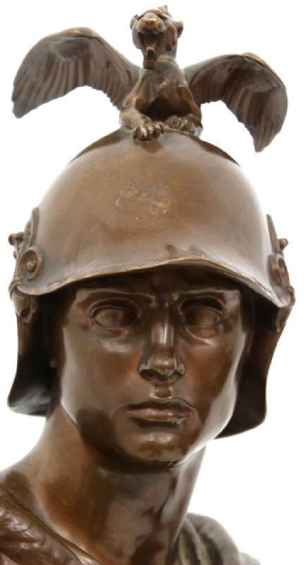 Barbedienne Cast Le Courage Militaire After Paul DuBois (1827-1905)