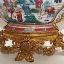 Gilt Bronze Mounted Chinese Export Porcelain Centerpiece Bowl
