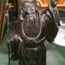Fukurokuju  God of Longevity Japanese Bronze Sculpture