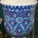 Antique Iznik Style Ceramic Jardiniere / Planter