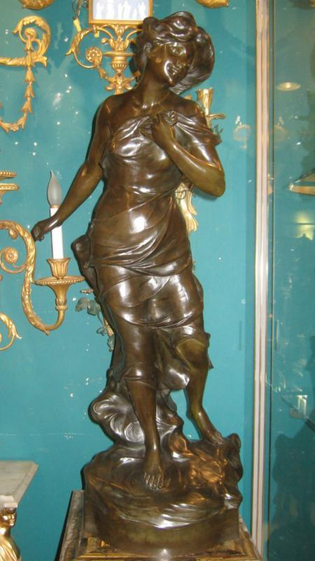 Nymph Bronze Sculpture After Luca Madrassi