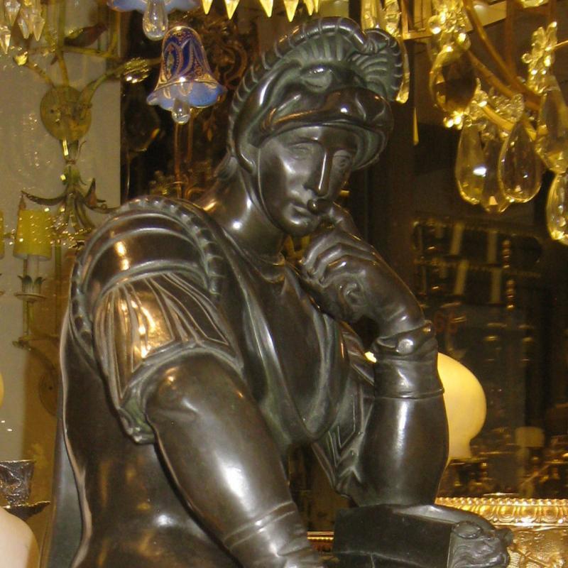 Lorenzo de Medici Bronze Sculpture after Michelangelo