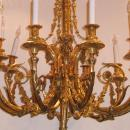 Louis XV Style Gilt Bronze Chandelier After Pierre Gouthiere
