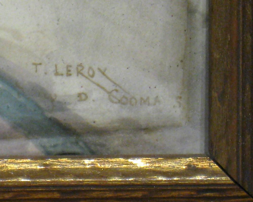 Large Enamel Faience Plaque by Theodore Leroy After Diana Coomans (1861-1952)