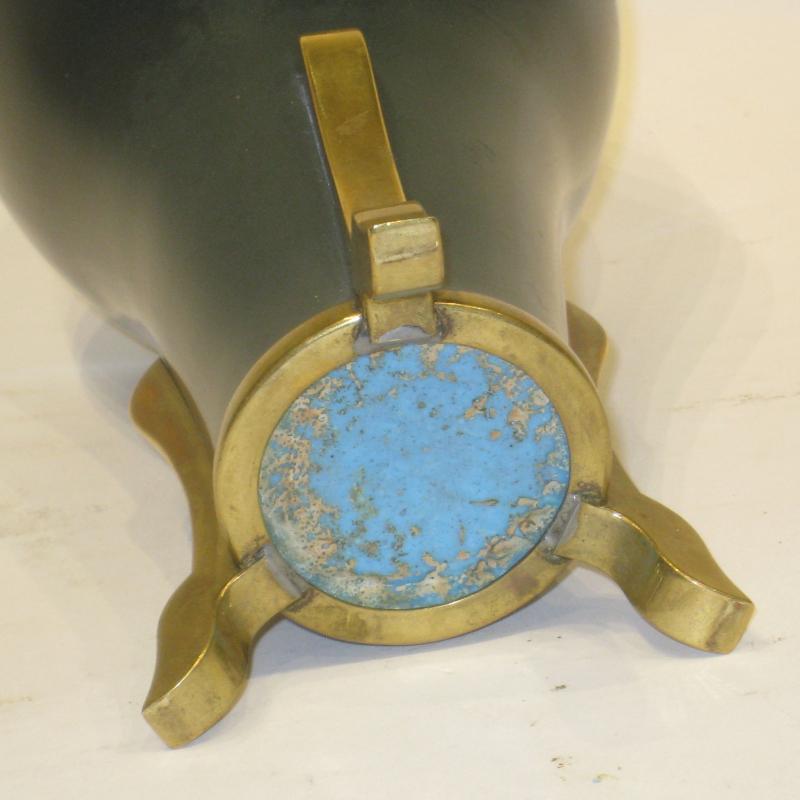 Japanese Wireless Cloisonne Enamel Bronze Vase