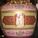 Pair Royal Vienna Style Porcelain Vases Depicting Roman Goddess Diana
