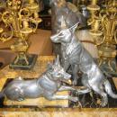 Louis-Albert Carvin (1875-1951) Sculpture of German Shepherds