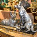 Louis-Albert Carvin (1875-1951) Sculpture of German Shepherds