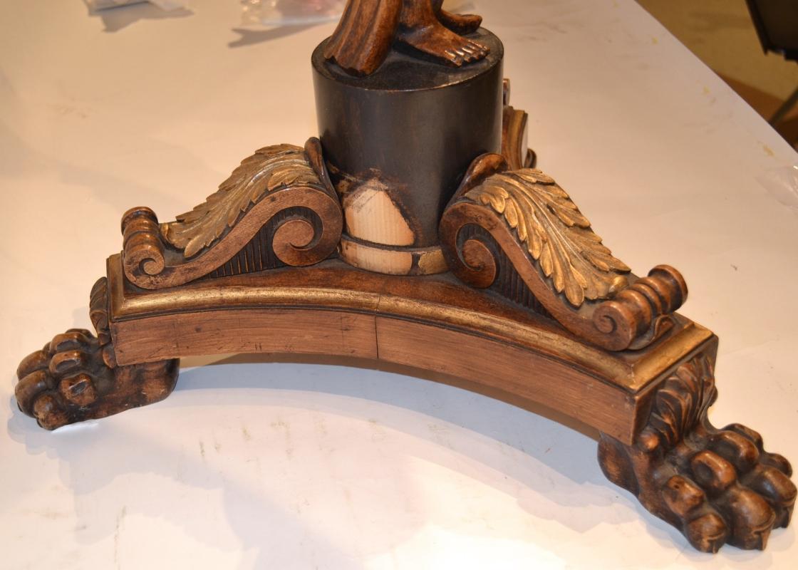 Pair Antique Pietra Dura Stone Inlaid Side Tables