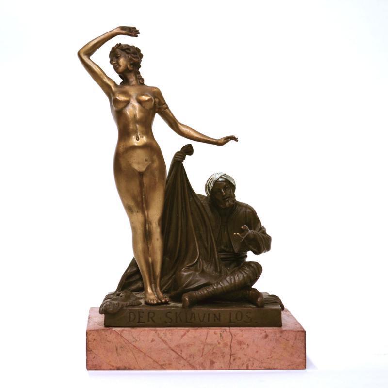 Orientalist Bronze Figurine by Theodor Karl Eichler (1868-1946)